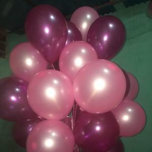 Bóng bay hidro màu hồng nhũ