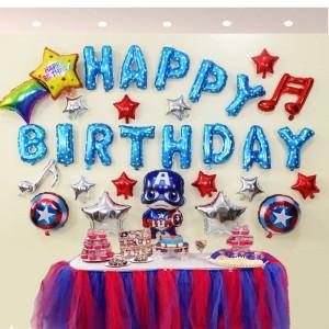 Bộ chữ happy birthday chủ đề cartoon american