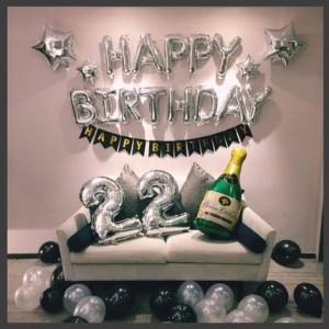 Bộ chữ trang trí sinh nhật kèm sao và dây cờ đuôi cá