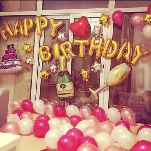 Bộ chữ Happy Birthday đầy đủ phụ kiện