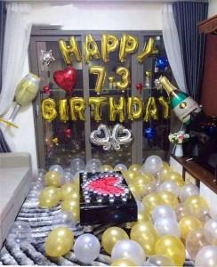 Trang Trí sinh nhật bằng bóng chữ và bóng bay thả sàn
