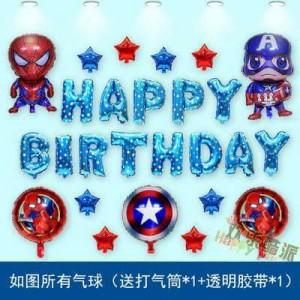 Bộ chữ happy birthday chủ đề siêu nhân