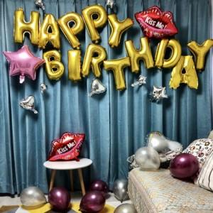 Set chữ trang trí sinh nhật + tặng kèm bơm tay và băng dính