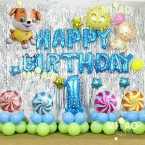 Bộ bóng trang trí sinh nhật năm cún, năm chó