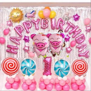 Bộ bóng bay chữ happy birthday năm lợn