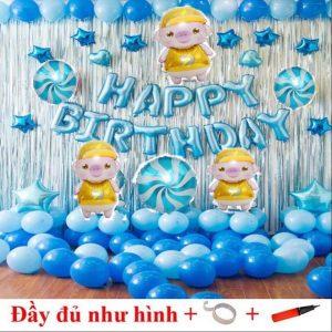 Bộ bóng chữ happy birthday Ms02
