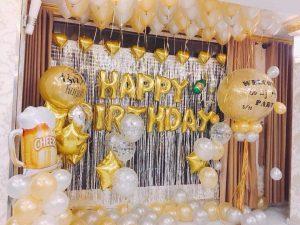 Combo set trang trí sinh nhật đủ phụ kiện