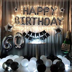 Set Bóng Sinh Nhật Happy Birthday Kèm Đèn Led Và Số Tuổi Nhiều Mẫu