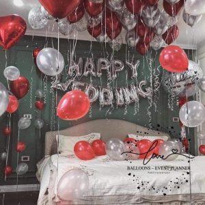 Bộ bóng bay trang trí phòng cưới full set up Ms02