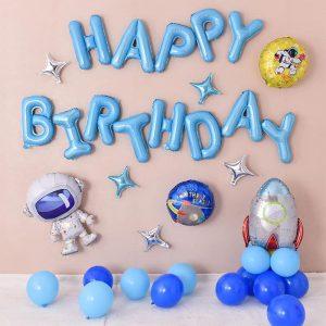 Set bóng bay trang trí sinh nhật phi hành gia ms01