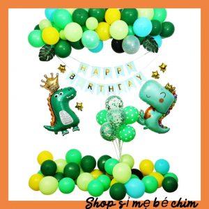 🎈🎈🎈Set bóng sinh nhật Khủng Long Cho Bé Trai – BK09 Đủ Phụ Kiện