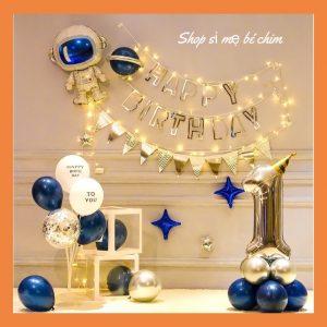Bộ bóng bay trang trí sinh nhật Phi Hành Gia Mẫu Mới MR003 + dây đèn