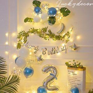 Bộ bóng bay trang trí sinh nhật Hàn Quốc Hot Nhất Hiện Nay MM120 + Tặng Đèn Led