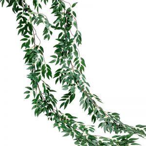 Dây lá Bạch Đàn (Olive) giả trang trí sinh nhật, tiệc cưới 1.9m