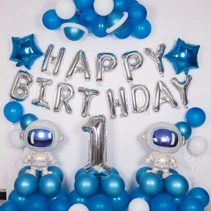 Set bóng bay tự trang trí sinh nhật tại nhà MS91